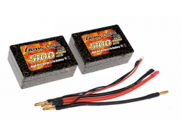 Gens Ace 5100mAh 25C 2S (7,4V) Hard Case Lipo Battery Pack