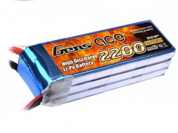 Gens Ace 2200mAh 3s (11,1V) 55C  Lipo Battery Pack