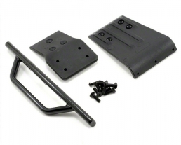 RPM Front Bumper & Skid Plate for the Traxxas Slash 4x4 - Black
