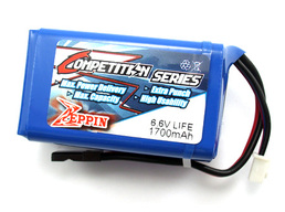 Zeppin Racing LiFe 1700Mah 6.6v RX Battery Hump Pack
