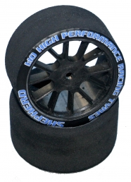 Shepherd Nitro 1/10 foam tyre Rear (SH40) (Carbon)