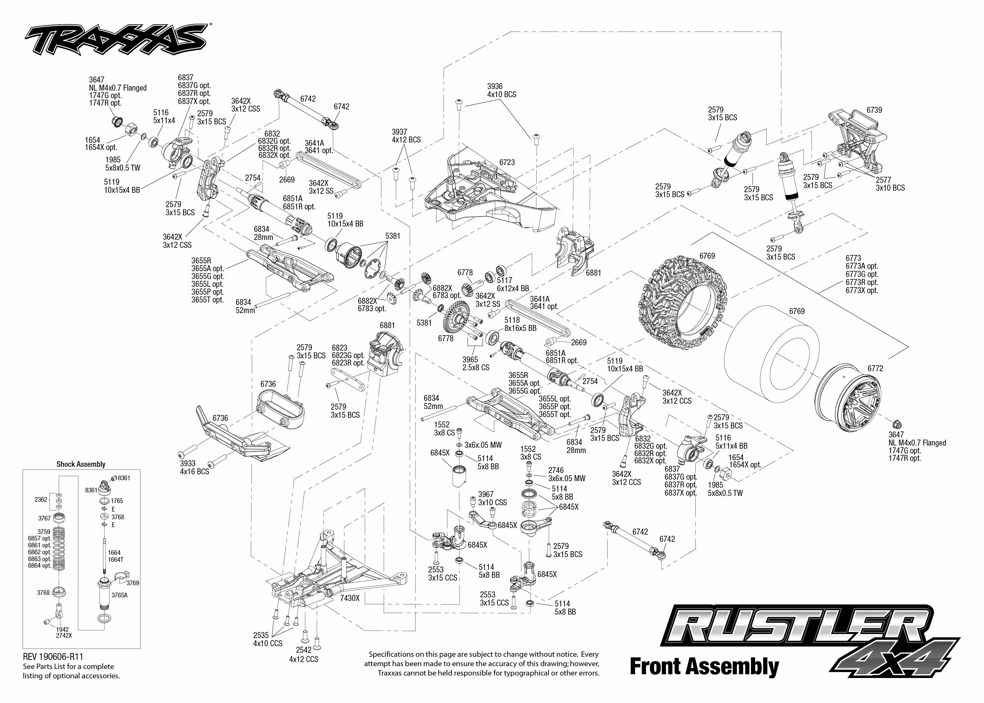 Traxxas Rustler 4x4 Vxl Parts Diagram