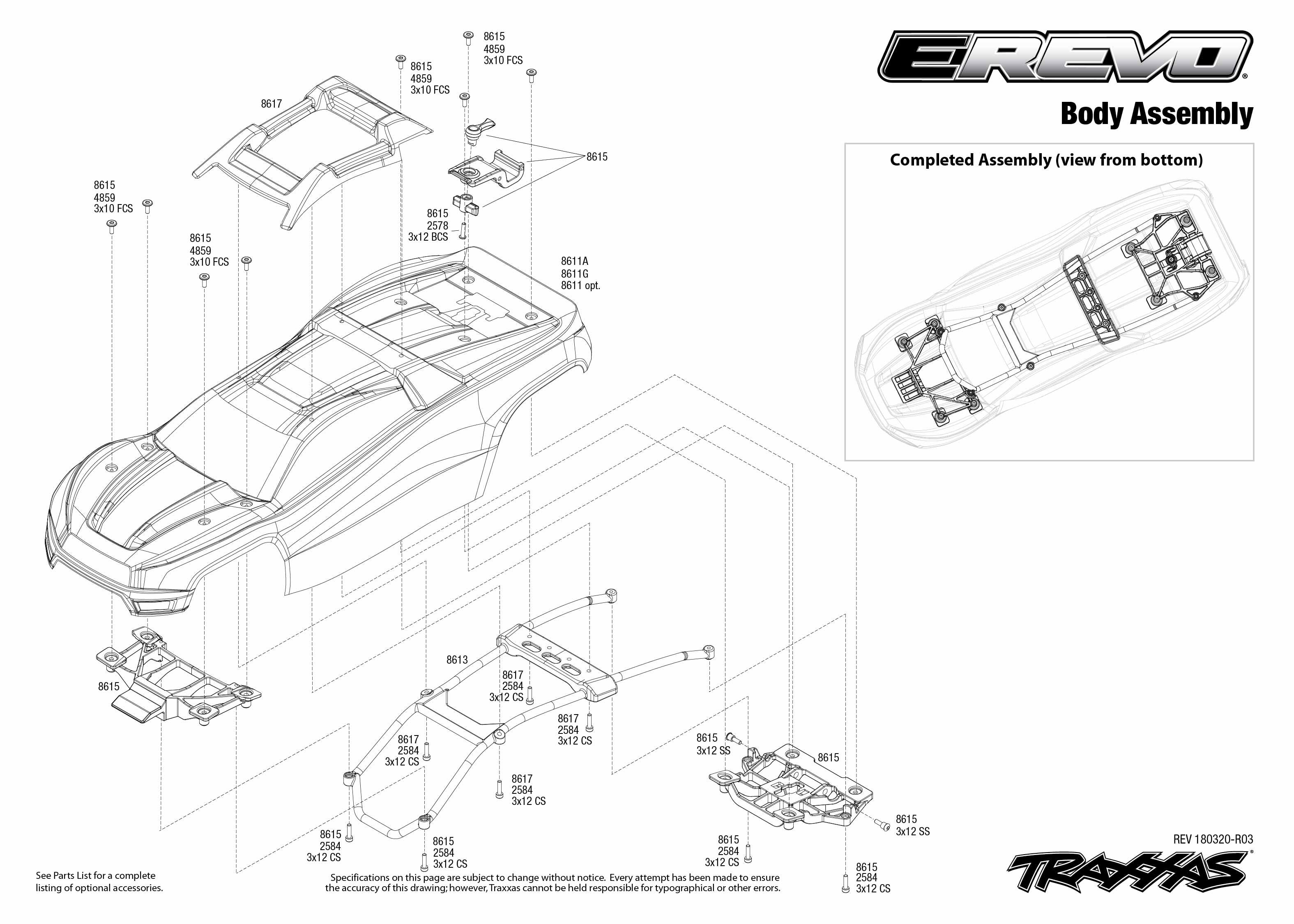 Traxxas E Revo 20 2001 Tracker 2 0 Engine Diagram Manual And Exploded View