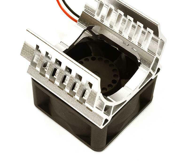 Integy RC Model Hop-ups C28600BLACK 36mm Motor Heatsink+40x40mm Cooling Fan 17k RPM for 1//10 TR-MT10E /& TRX-4
