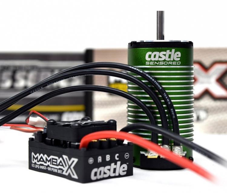 Castle Mamba X Sensor ESC With 1515-2200KV Combo