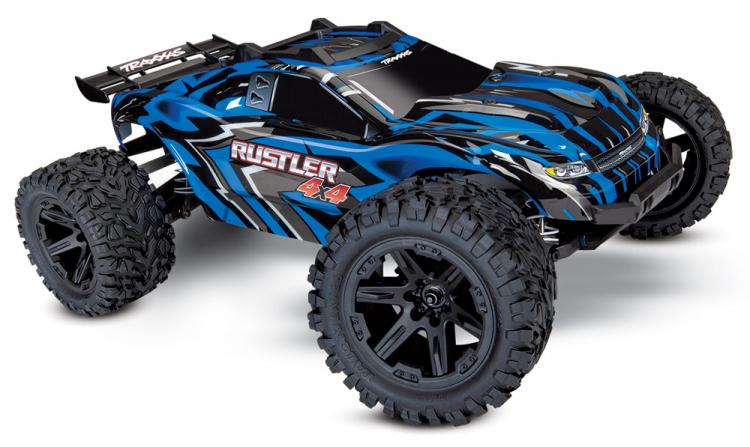Traxxas Rustler 4X4 XL-5 1/10 Stadium Truck with Batt/Charger