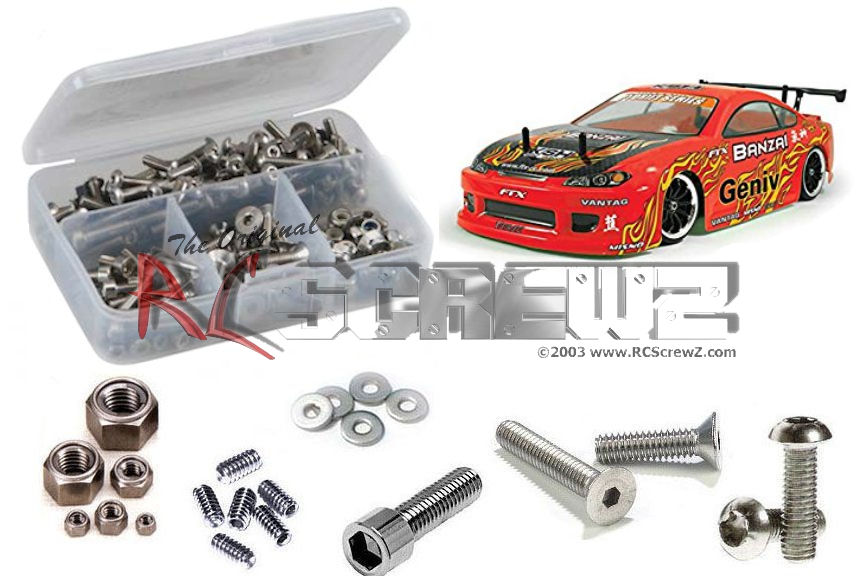 RCScrewz FTX Banzai Drift 1/10th Stainless Screw Kit