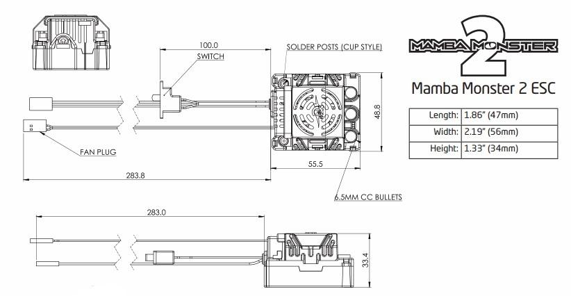 castle mamba monster 2 extreme 1 8 esc eurorc com rh eurorc com mamba monster 2 wiring diagram mamba monster 2 wiring diagram