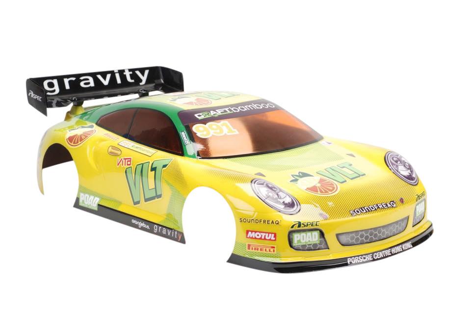 TeamC GT8 Body- Porsche 911 - 325mm - Unpainted