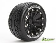 "LOUISE Tire & Wheel ST-ROCKET 2.8"" 1/2-Offset Black (2) LT3208BH"