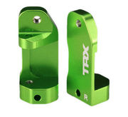 Traxxas Aluminum 30deg Caster Blocks (L+R) For Slash, Rustler, Stampede - Green