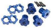 Traxxas Wheel Hubs Splined 17mm Blue-Anodized (4)