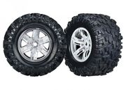 Traxxas Tires & wheels (X-Maxx Satin wheels/ Maxx AT tires) (2)