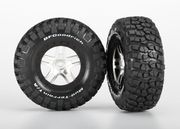 Traxxas Tires & Wheels, Goodrich S1/Split-Spoke, 4WD/2WD Rear (2)