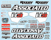 Team Associated RC8B3 Decal Sheet