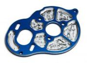 Team AssociatedFactory Team Milled Motor Plate, blue