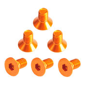TeamC Aluminum M3x8 Flat Head Screw - Orange (6)