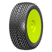 GRP 1:8 BU - ATOMIC - New Closed Cell Insert - Mounted on New Closed Yellow Wheel