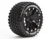 "Louise Tire & Wheel ST-HUMMER 2.8"" - 1:2-Offset - Black (2)"