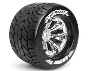 "Louise Tire & Wheel MT-ROCKET 3.8"" 0-Offset Chrome (2)"