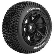Louise Tires & Wheels ST-VIPER 1/8 Truck (Beadlock) Black (2)