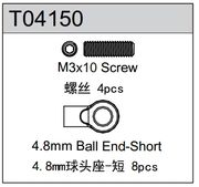 TeamC 4.8mm Short Ball End (4) TM4