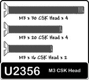 Schumacher SPEED PACK - M3x16-30 Csk Screws (pk12)