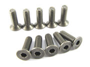 Zeppin Racing Titanium Hex Flat Head Steel Screw M3X8 (10)