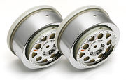 Team Associated KMC Rear Chrome Wheels For SC10 (2)