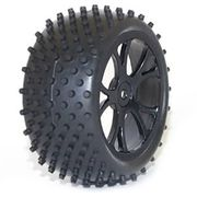 FTX Vantage Rear Buggy Tyre Mounted On Wheels - Black (2)