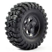 "FTX Outback Pre-mounted 1.9"" 6hex wheel & Tyre (2) - Black"