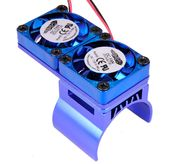Hobbypro Heat Sink With Twin Twister Fan - Blue