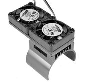 Hobbypro Heat Sink With Twin Twister Fan - silver