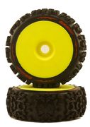 Louise 1:8 B-Pioneer With Yellow Rim - Mounted - Soft (2)