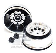 RPM Chrome Revolver Short Course Wheels - Slash 2wd Ft. (2)
