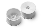 Xray 2WD/4WD Rear Wheel Aerodisk with 12mm Hex - V2 - White (2)
