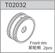 TeamC 2WD Front Rim Yellow (2)