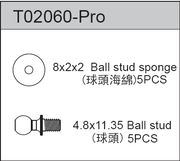 TeamC Ball Stud 4.8 X 11.35 (5)