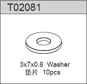 TeamC Washer 3X7X0.8MM (10)