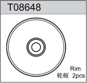 TeamC 1/8 Scale Rim (17mm) - White (2)