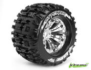 Louise 1:8 3.8 Inch Monster Tire MT-Pioneer Mounted On Chrome Wheel - 0 Offset - Sport (2)