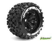 Louise 1:8 3.8 Inch Monster Tire MT-Uphill Mounted On Black Wheel - 0 Offset - Sport (2)