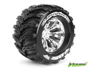 Louise 1:8 3.8 Inch Monster Tire MT-Cyclone Mounted On Chrome Wheel - 1:2 Offset - Sport (2)