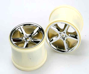 "Traxxas 3.8"" Gemini Chrome Monster Truck Wheels (14mm hex) (2)"