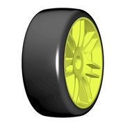 GRP 1:8 GT - T02 SLICK -  New Spoked Yellow Wheel - 1 Pair