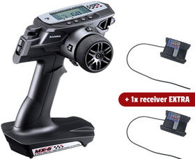 Sanwa MX-6 3-Channel 2.4GHz FH-E Surface Radio With 2X RX-391W Receiver