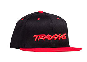 Traxxas Snap Hat Flat Bill Red Traxxas Logo