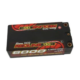 Gens ace Redline Series 6000mAh 7.6V 130C 2S HardCase HV Shorty Lipo Battery