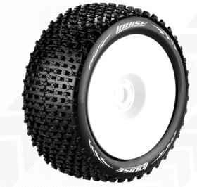 Louise T-Pirate 1:8 Truggy Tires - 1:2 Offset White Rim - Soft (2)