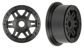 Pro-Line Split Six Black/Black Bead-Loc Front Wheels (2)